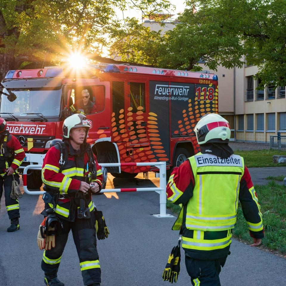 Eine Übung bei der Feuerwehr AMG